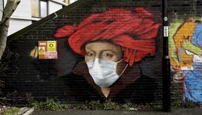 تصاویر| جنگ گرافیتیهای خیابانی با کووید-19
