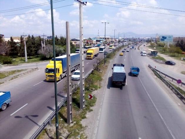 تردد در جادههای کردستان حدود ۱۷.۶ درصد کاهش یافت