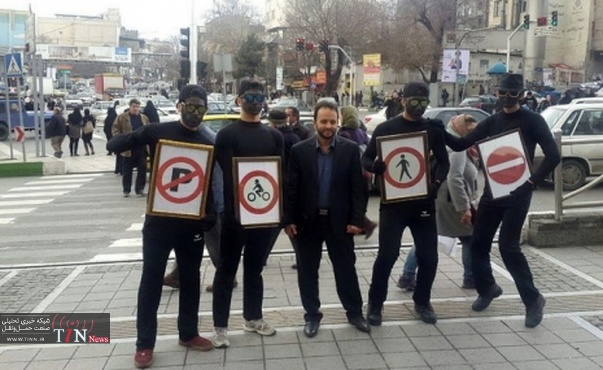 اجرای پرفرمنس هنری ترافیکی در ۲۰ نقطه از تهران