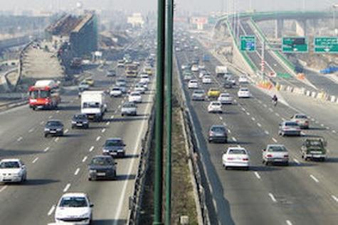 جدول وضعیت ترافیک لحظهای راههای اصلی و فرعی استان تهران-۱