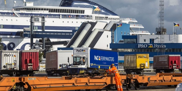 Ferries arriving to Port of Rotterdam from UK are not allowed to carry passengers