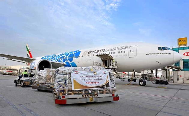 Emirates launches an airbridge between Dubai and Lebanon dedicating over 50 flights to deliver much needed emergency relief support