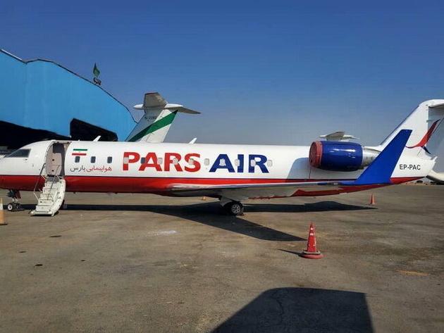 نخستین پرواز آزمایشی هواپیمایی پارس در شیراز به زمین نشست
