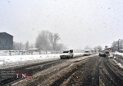 بارش سنگین برف در گیلان