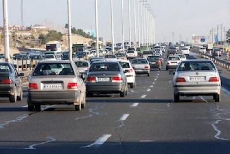 جدول وضعیت ترافیک لحظهای راههای اصلی و فرعی استان تهران - ۳