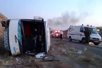 واژگونی اتوبوس این بار در کرمان، 7 کشته و ۳۱ مصدوم به جا گذاشت