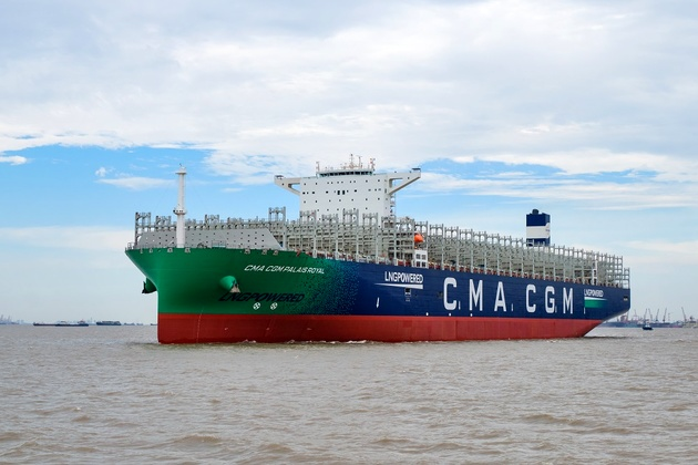 CMA CGM's 2nd LNG-powered giant nearing completion