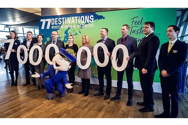 Riga Airport welcomes its seven millionth passenger