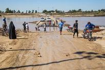 تصاویر  تخریپ پل ارتباطی به علت طغیان رودخانه - خوزستان