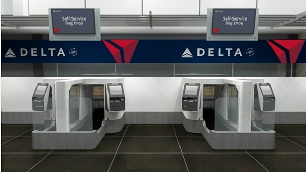 Delta tests first biometric-based self-service bag drop