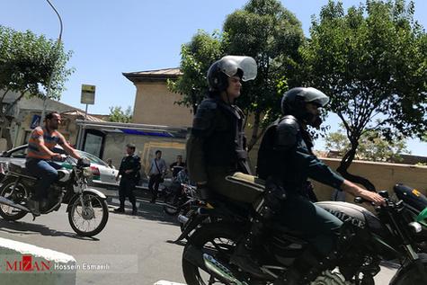 گزارش تصویری/ خیابانهای اطراف مجلس پس از تیراندازی