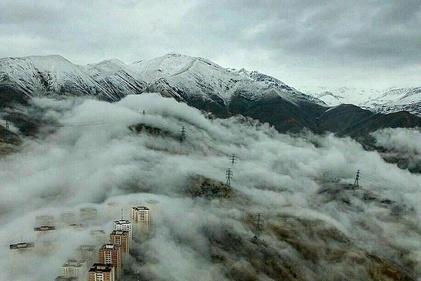 منظرهای کمیاب از تهران در روز بارانی