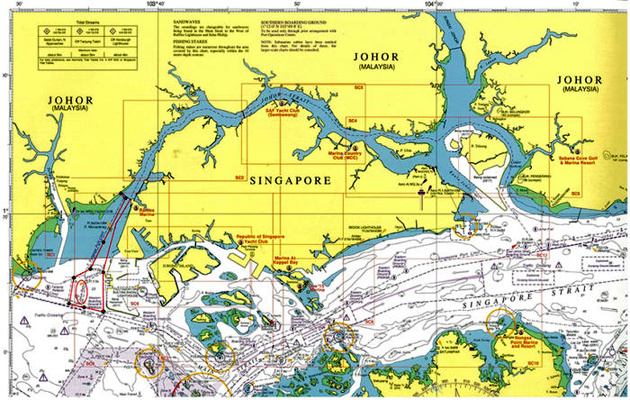 Malaysia and Singapore conflict on territorial waters