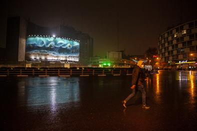 گزارش تصویری  تهران در اولین شب قرنطینه