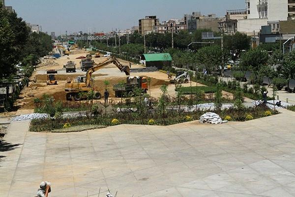 پیشرفت ۷۵ درصدی فاز یک باغ راه حضرت فاطمه زهرا(س)