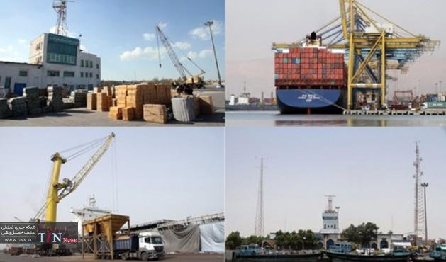 تخلیه و بارگیری ۵۸ میلیون تن کالا در بنادر بازرگانی هرمزگان / صادرات ۱۷میلیون تن کالای غیر نفتی