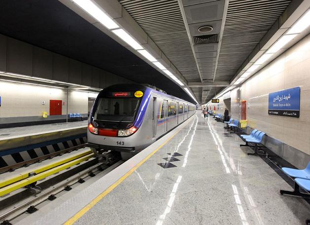 نقص فنی خط ۳ مترو تهران برطرف شد