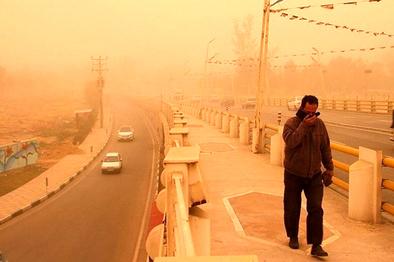 هوای کرمان و بوشهر ناسالم است