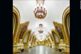 گزارش تصویری/ نگاهی به ۱۲ ایستگاه متروی بسیار زیبا در شهر مسکو