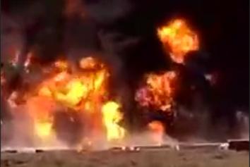 فیلم| وضعیت دردناک گمرک اسلام قلعه یک روز پس از آتش سوزی مهیب
