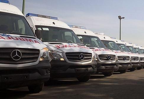 استقرار 21 دستگاه آمبولانس در مرز مهران