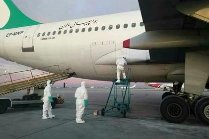 ضدعفونی ایرباس «ماهان» که به چین سفر کرده بود