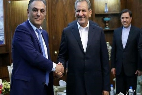 گزارش تصویری / دیدار وزیرحمل و نقل و ارتباطات ارمنستان با جهانگیری