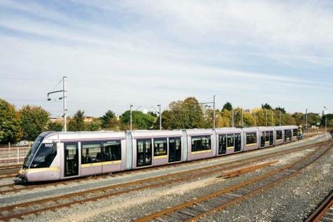 Dublin receives first 55m-long Citadis LRV