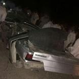 مرگ راننده با انحراف به چپ خودرودرمحور ساوه -سلفچگان