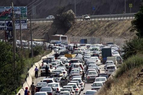 جدول وضعیت ترافیک راههای اصلی و فرعی استان تهران - ۲