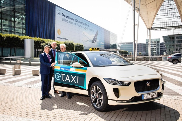 The Electric Jaguar I-Pace is Germany's Newest Taxi