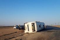 واژگونی اتوبوس مسافربری