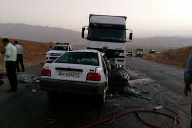 حادثه رانندگی در آزادراه ساوه به همدان؛ یک کشته و سه مجروح