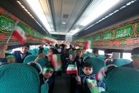 حرکت قطار «نظم و دوستی» برای جلوگیری از حوادث ساکنان حاشیه ریل