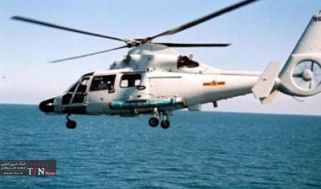 مرگ چهار نفر بر اثر سقوط بالگرد نیروی دریایی چین