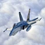 یک فروند جنگنده F-۱۸ نیروی هوایی اسپانیا سقوط کرد