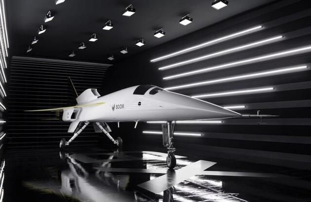 """رونمایی از هواپیمای مدرن شرکت """"بوم سوپرسونیک"""""""