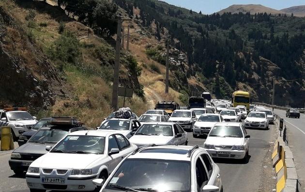 ترافیک سنگین صبحگاهی در جاده کندوان