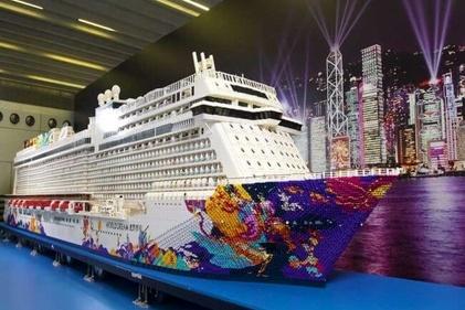 (تصاویر) بزرگترین کشتی ساخته شده با لِگو در چین