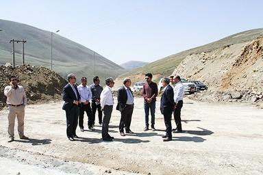 بازدید از پروژههای راهسازی اردبیل