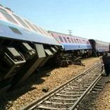 خروج یک بوژی از واگن قطار مسافری مشهد- یزد
