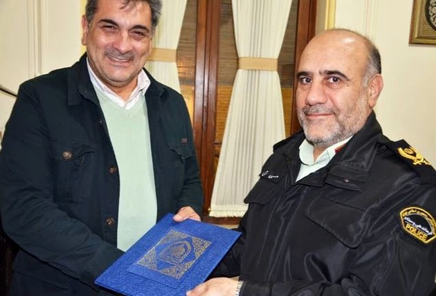 دیدار رئیس پلیس و شهردار تهران