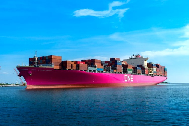ONE's First Magenta-Branded Containership Debuts in Asia