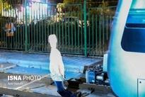 گزارش تصویری / مانور نقض حریم ریلی قطار شهری مشهد