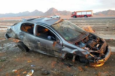 واژگونی خودرو در جاده انارک به چوپانان یک کشته داشت