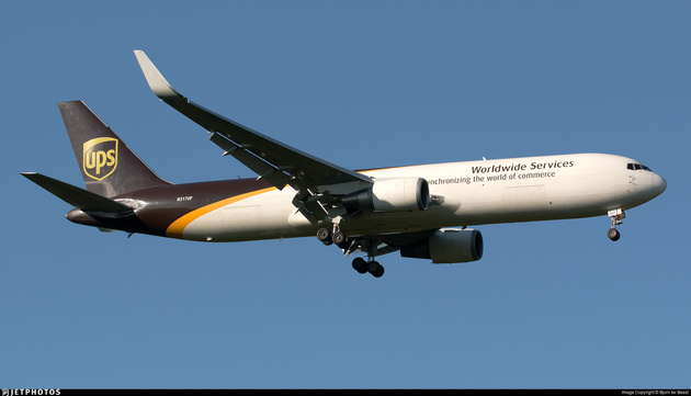 UPS Boeing 767 Engine Shuts Down in Flight over Atlantic