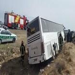 چهار مجروح در سانحه اتوبوس زائران عراقی در محور دامغان- شاهرود