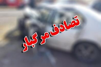 برخورد اتوبوس با دنا، راننده خودرو سواری را به کام مرگ کشاند