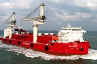 World's first self-unloading transshipment delivered