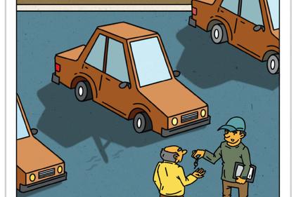 کاریکاتور/ 55درصد از خودروهای نو زیر 4 سال در معاینه فنی